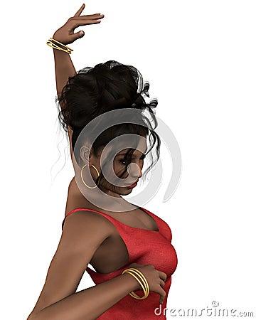 Flamenco Dancer in Closeup