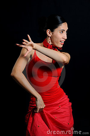 Free Flamenco Dancer Isoated Royalty Free Stock Image - 6569956