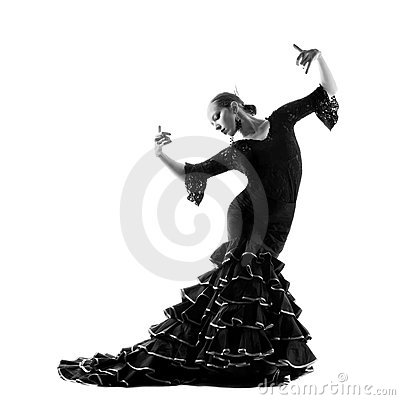 Free Flamenco Dancer Silhouette Royalty Free Stock Image - 16194316