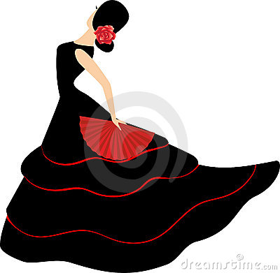 Free Flamenco Dancer. Spanish Girl With Fan Stock Image - 20339031