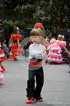 Flamenco girl Editorial Photography