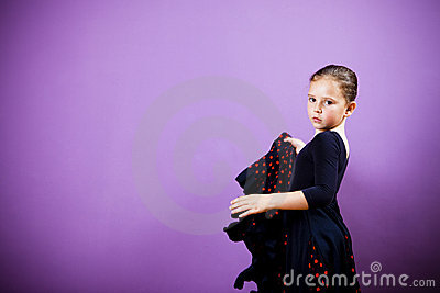 Flamenco girl dancing