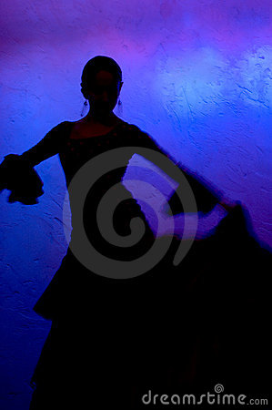 Free Flamenko Dancer Silhouette Royalty Free Stock Image - 1563926