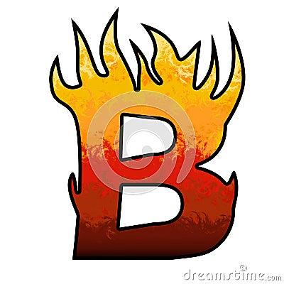 Flames Alphabet letter - B