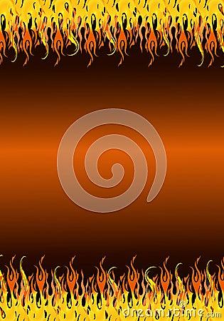 Flames border