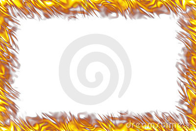 Flames Border on White
