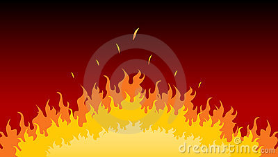 Flames burning in fire