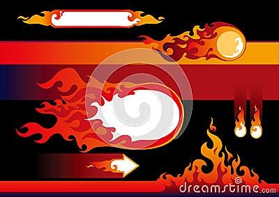 Flames design elements