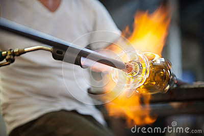 Flames on Fine Art Glass