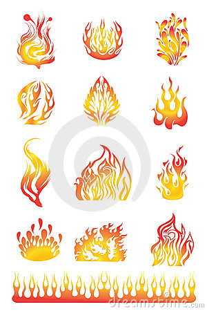 Free Flames Set 01 Stock Photos - 20838623