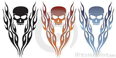 Flames and Skull Tattoo