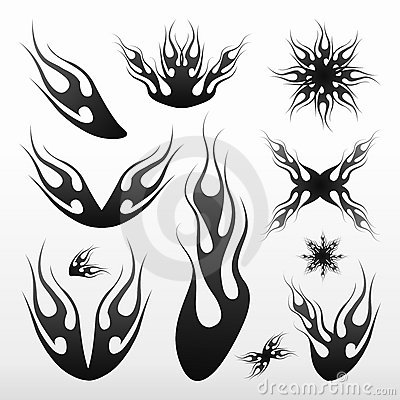 Free Flames Tribal / Tatoo Royalty Free Stock Photography - 7573317