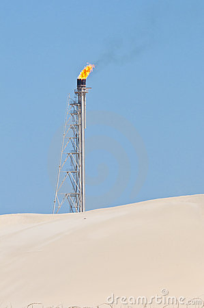Free Flaming Candle In The Desert Stock Photo - 19777670