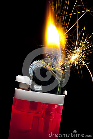Flaming Cigarette Lighter