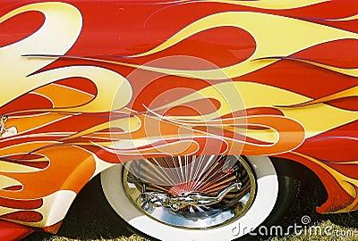 Flaming collectors car
