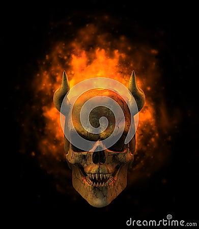 Free Flaming Demon Skull Royalty Free Stock Image - 1959256
