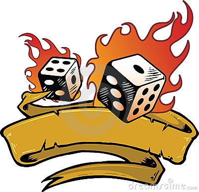 Free Flaming Dice Banner Vector Illustration Stock Photos - 6866263