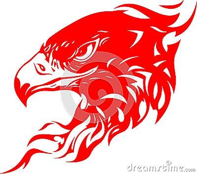 Flaming Eagle Head 1