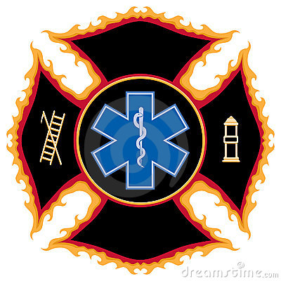 Flaming Fire Rescue Symbol