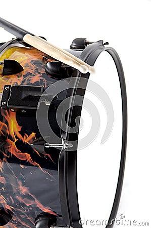 flaming fire snare drum stock image image 6095181. Black Bedroom Furniture Sets. Home Design Ideas