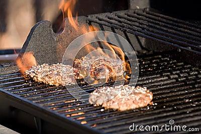 Flaming Hamburgers