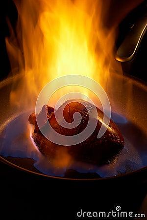 Flaming heart.