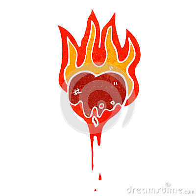 flaming heart symbol