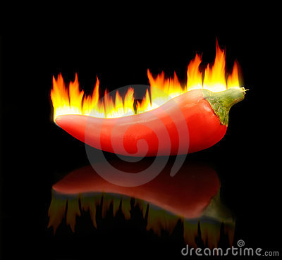 Free Flaming Hot Pepper Royalty Free Stock Photos - 2061638