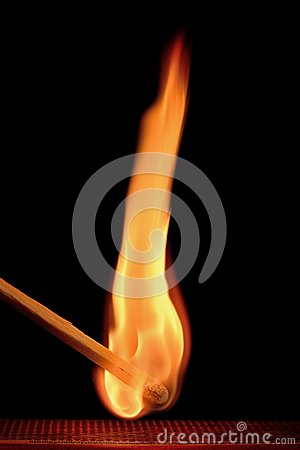 Free Flaming Match Royalty Free Stock Image - 63645486