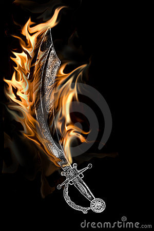 Flaming Pirate Cutlass Sword