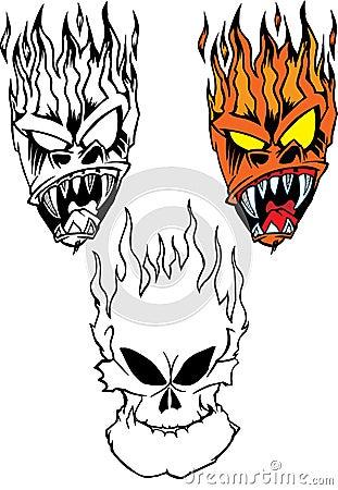 Flaming Skulls
