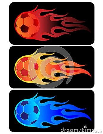 Free Flaming Soccer Ball Stock Photo - 9432820