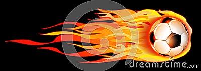 Flaming Soccer Ball Illustration
