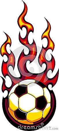 Free Flaming Soccer Ball Logo Stock Photography - 11760112