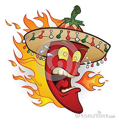 Flaming Sombrero Chili Pepper