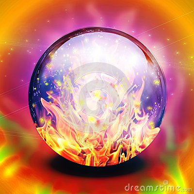 Free Flaming Sphere Royalty Free Stock Photo - 118062435