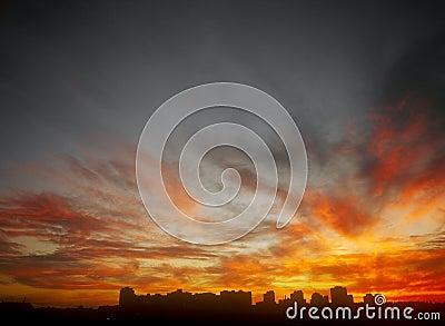 Flaming sunset.