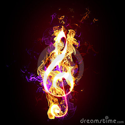 Free Flaming Treble Or G Clef Royalty Free Stock Photos - 11284038