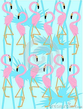 Flamingo Pattern Stock Images Image 14579554