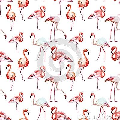 Free Flamingo Pattern Royalty Free Stock Photo - 50515535