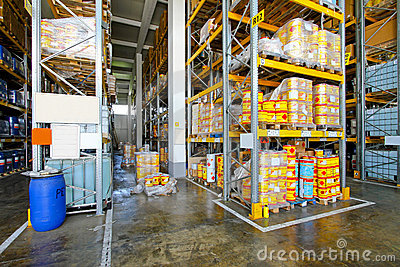 Flammable material warehouse