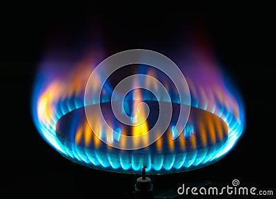 flamme de br leur gaz de cuisine photo stock image 53345409. Black Bedroom Furniture Sets. Home Design Ideas
