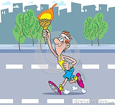 Flamme olympique photographie stock libre de droits - Flamme olympique dessin ...