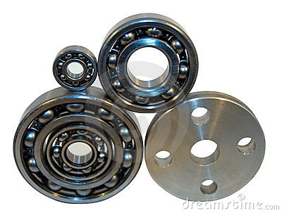 Flange and four bearings