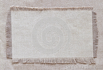 Flap burlap background