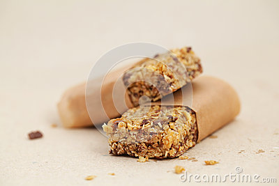 Flapjack oat bar on baking paper