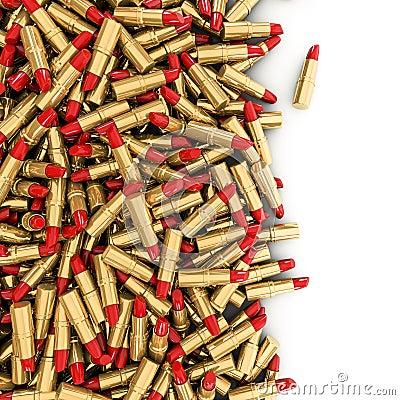 Flaque de rouge à lèvres