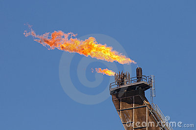 Flare of anoOffshore FPSO oil rig