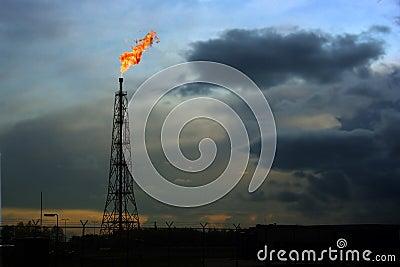 Flaring natural gas location