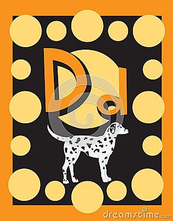 Flash Card Letter D nouns